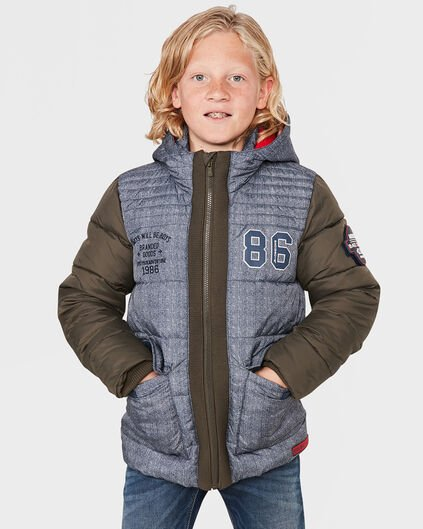 BAD BOYS JUNGENJACKE IN TWILL-OPTIK Dunkelblau