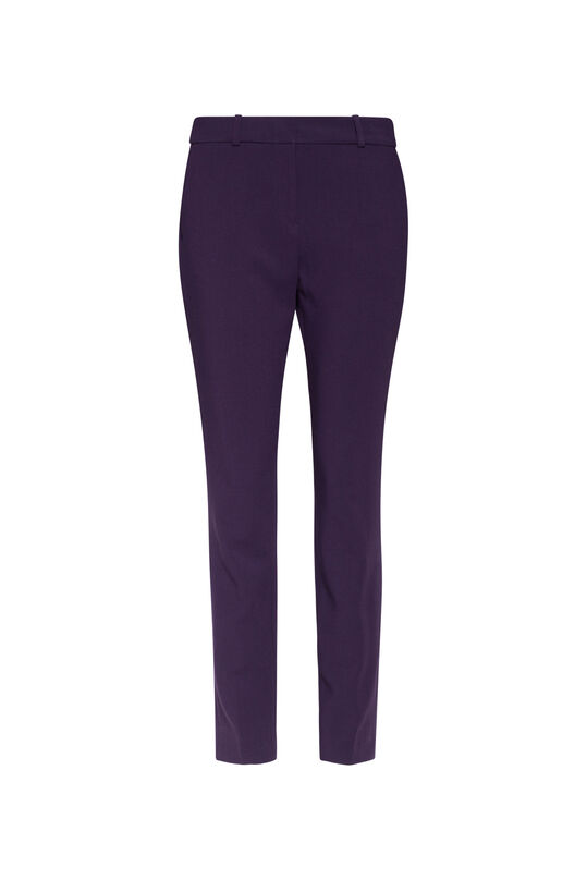 Damen-Slim-Fit-Hose Dunkelviolett