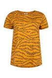Damen-T-Shirt mit Leopardenmuster, Orange