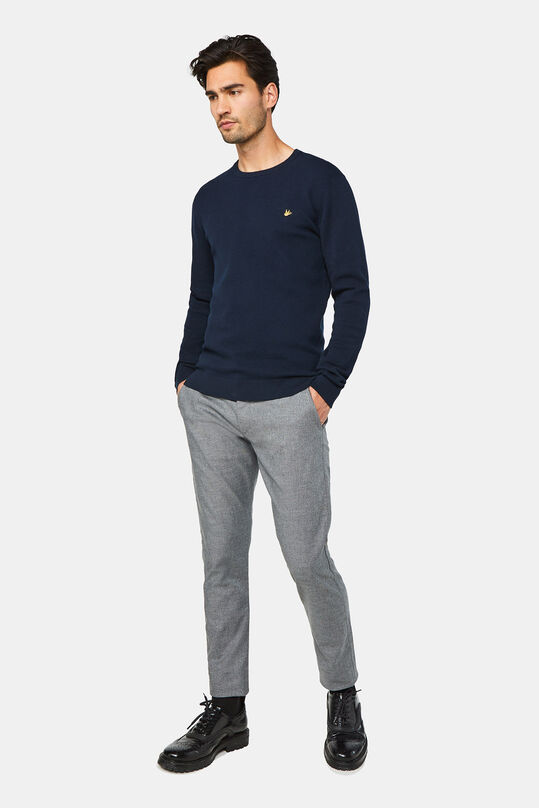 Herren-Slim-Fit-Chinos mit Tapered Leg Grau