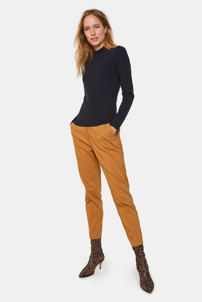 Damen-Slim-Fit-Chinos Braun