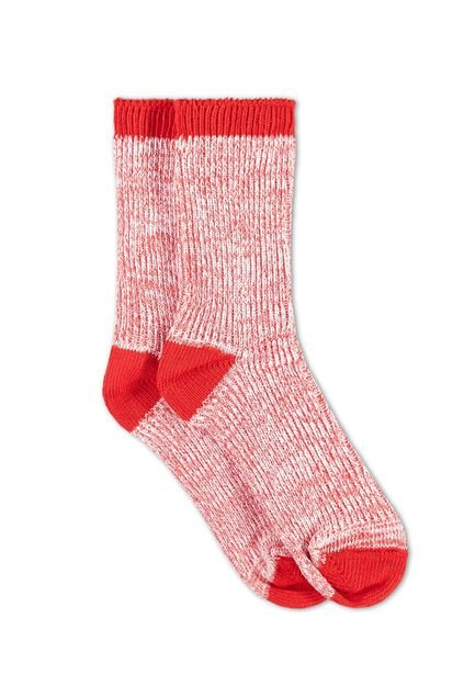 Damen-Stricksocken Rot