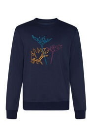 Herren-Sweatshirt mit Stickerei_Herren-Sweatshirt mit Stickerei, Marineblau