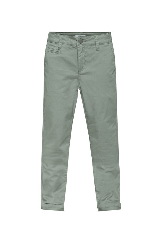 Jungen-Slim -Fit-Chinos Moosgrün