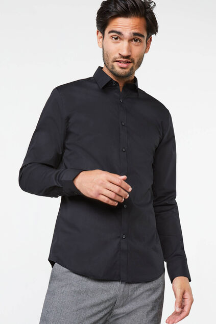 Herren-Regular-fit-hem mit stretchanteil Schwarz