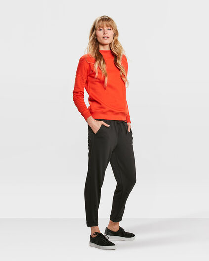 DAMEN-JOGGINGHOSE MIT SLIM-FIT-PASSFORM Schwarz
