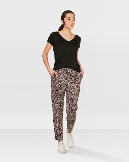 DAMEN-JOGGER MIT ANIMAL-PRINT Rosa