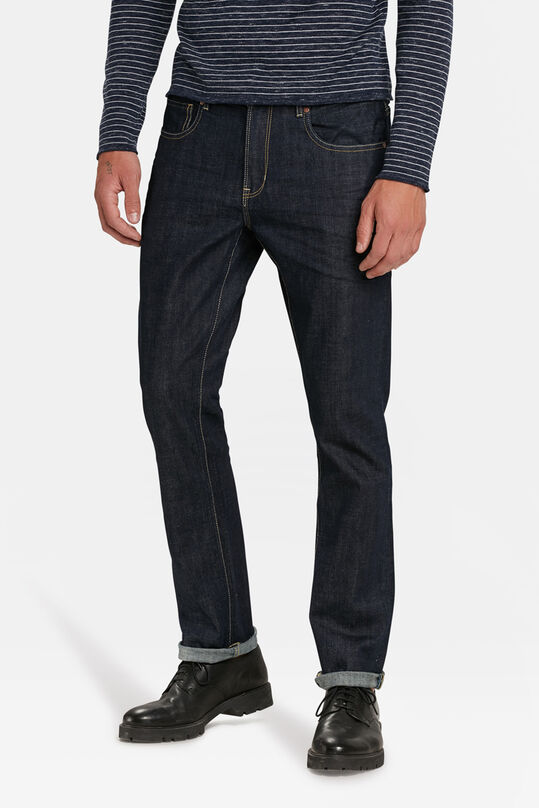 HERREN-REGULAR-STRAIGHT-ORGANIC COTTON-STRETCH-JEANS Blau