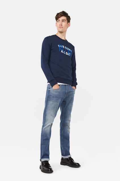 Herren-Regular-Fit-Jeans aus Comfort-Stretch Blau