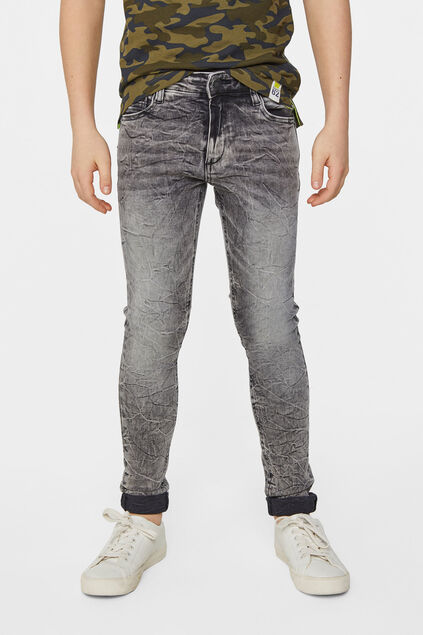 Jungen-Ultra-Skinny-Jeans mit Bleached-Waschung Grau
