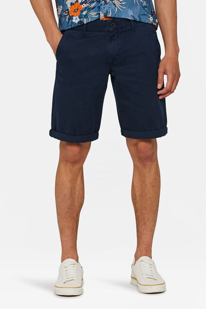 Herren-Chino-Shorts (Long Fit) Marineblau