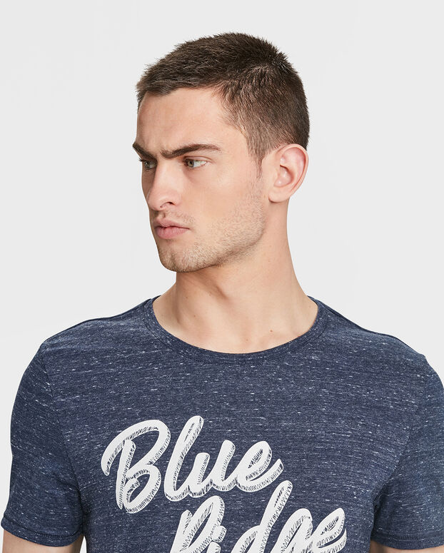 BLUE RIDGE HERREN-T-SHIRT MIT PRINT Marineblau