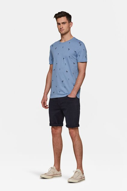 Herren-Regular-Fit-Jeansshorts Marineblau