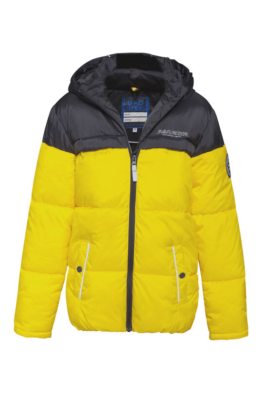 Jungenjacke in Colourblock-Optik Knallgelb