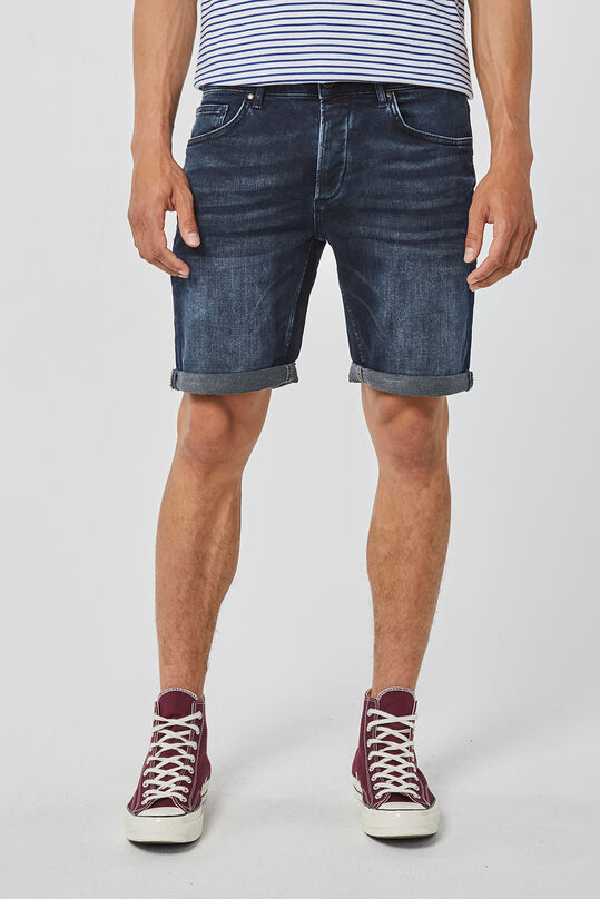 Herren-Regular-Fit-Shorts aus Jog-Denim Schwarz