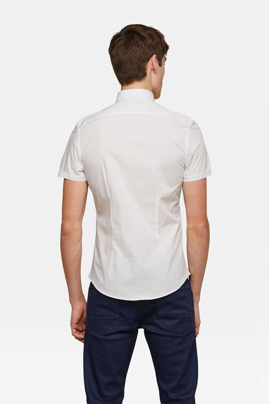 Herren-Slim-Fit-Hemd mit Stretch Weiß