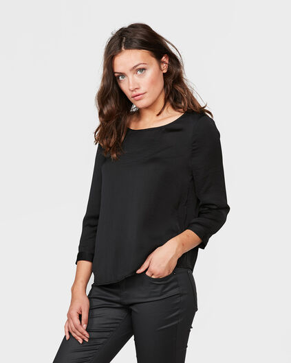 DAMEN-TOP MIT CUT-OUT-DETAIL Schwarz