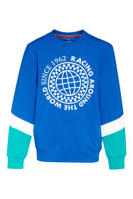 Jungen-Sweatshirt in Colourblock-Optik_Jungen-Sweatshirt in Colourblock-Optik, Knallblau