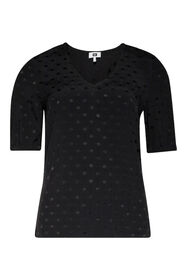 Damenshirt mit Animal-Print_Damenshirt mit Animal-Print, Schwarz