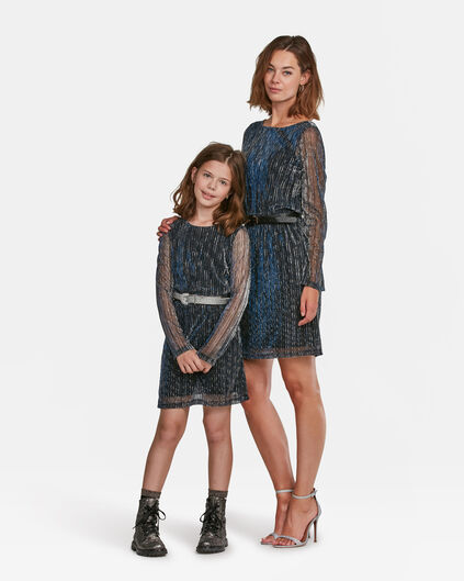 Mini me set: PLISSEEKLEID MIT GLITZERMUSTER