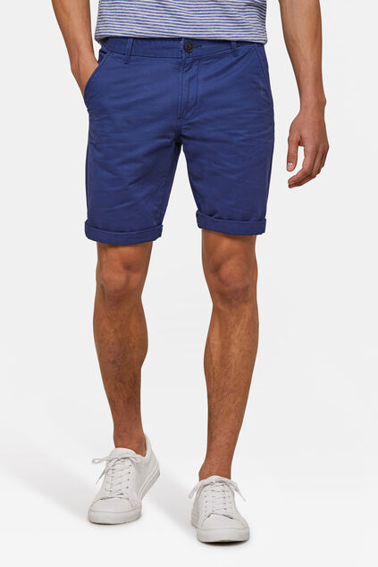 Herren-Regular-Fit-Chinoshorts Blau