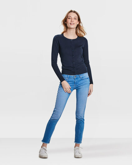 DAMEN-SKINNY-JEANS AUS HIGH-STRETCH-DENIM Blau