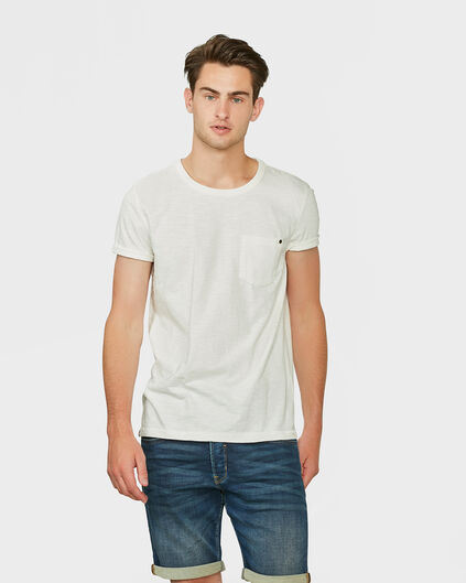 HERREN-T-SHIRT IN GARMENT-DYE-OPTIK Elfenbein