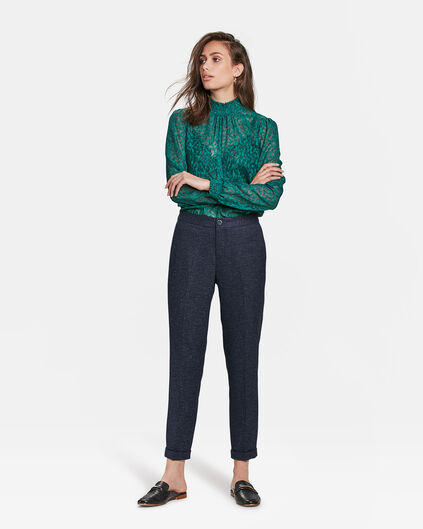DAMEN-SLIM-FIT-HOSE MIT TAPERED LEG Indigo