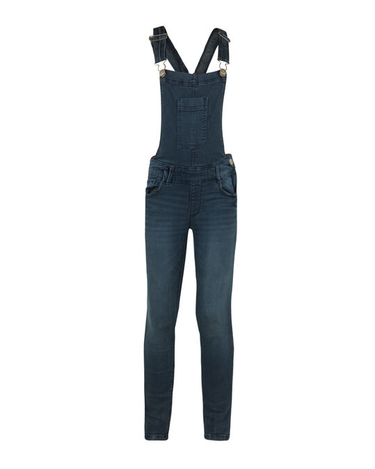 MÄDCHEN-JEANS-OVERALL IM SUPERSKINNY-FIT Dunkelblau