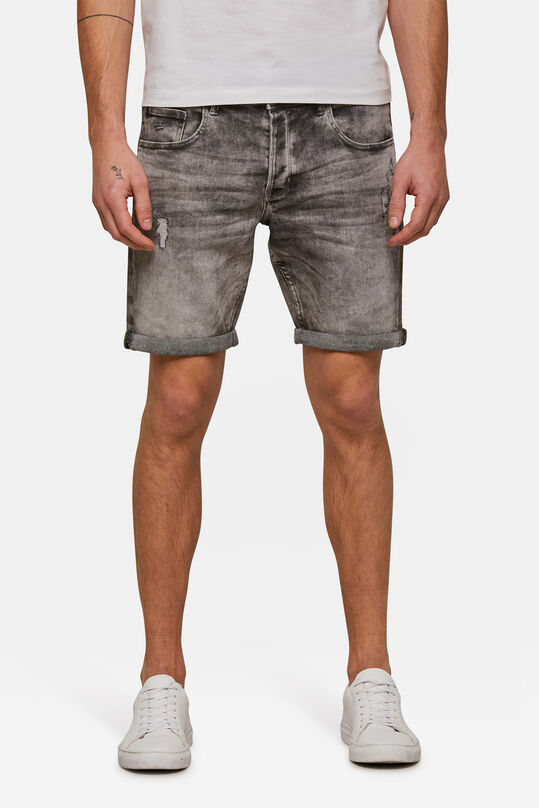 Herren-Regular-Fit-Jeansshorts Grau