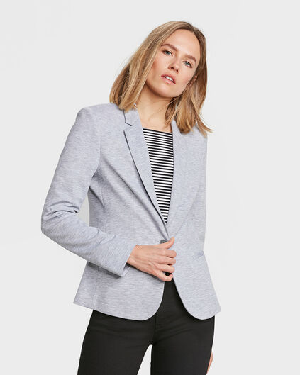 DAMEN-SLIM-FIT-BLAZER Grau
