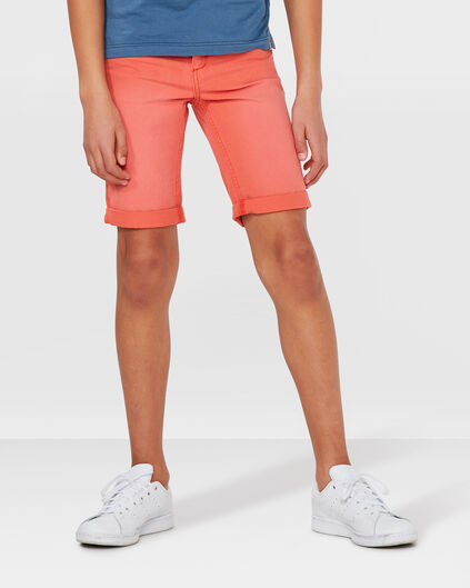 JUNGEN-REGULAR-FIT-GARMENT-DYE-SHORTS Knallorange