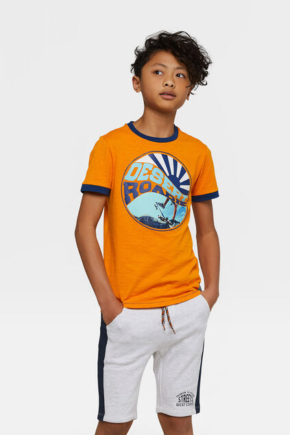 "Jungen-T-Shirt ""Desert Roadie"" Orange"
