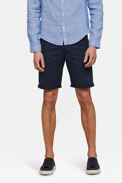 Herren-Regular-Fit-Chinoshorts Marineblau
