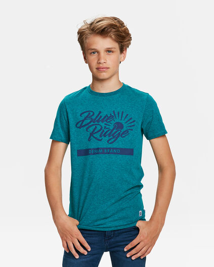 "JUNGEN-T-SHIRT ""BLUE RIDGE"" Benzin"