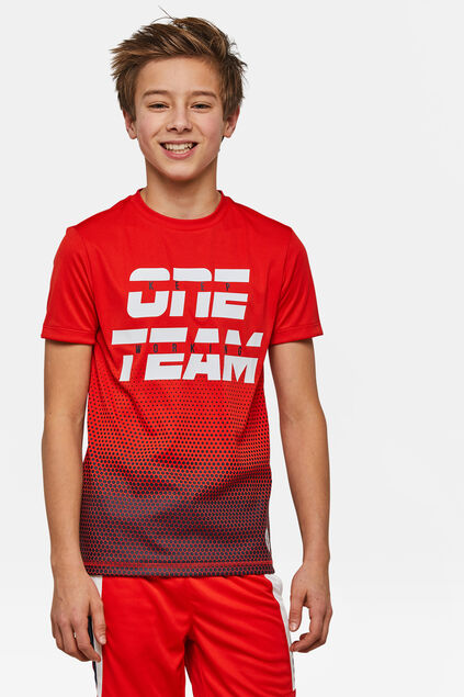 "Jungen-T-Shirt ""One Team Sport"" Rot"