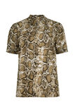 Damenshirt mit Animal-Print, Khaki