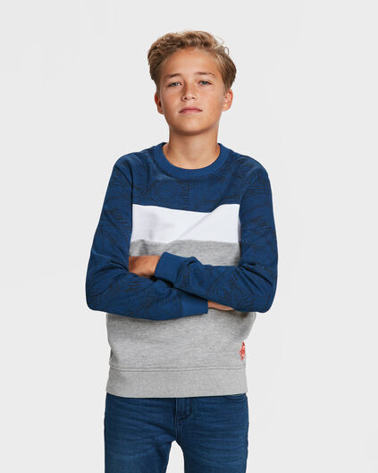 JUNGEN-SWEATSHIRT IN COLORBLOCK-OPTIK Dunkelblau
