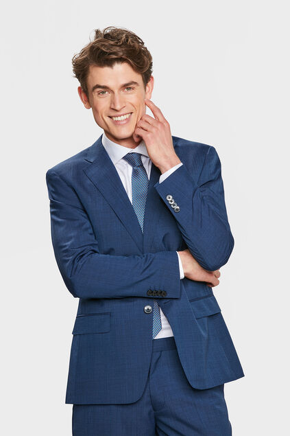 HERREN-REGULAR-FIT-BLAZER ELLIOT Dunkelblau