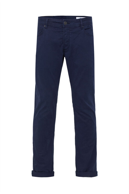 Herren-Slim-Fit-Hose mit Tapered Leg Dunkelblau