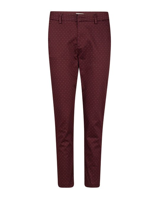 DAMEN-SLIM-FIT-CHINO MIT GRAFIKMUSTER Aubergine