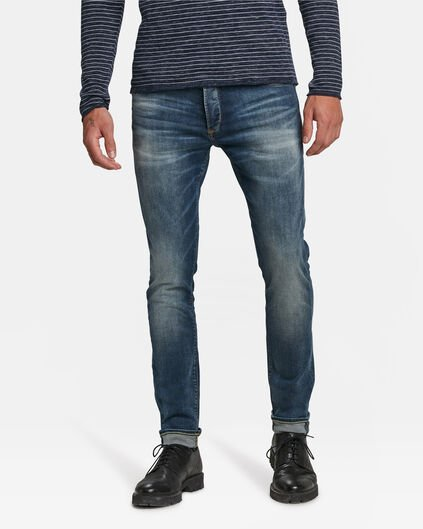 HERREN-SKINNY-JEANS AUS SUPERSTRETCH-DENIM Blau