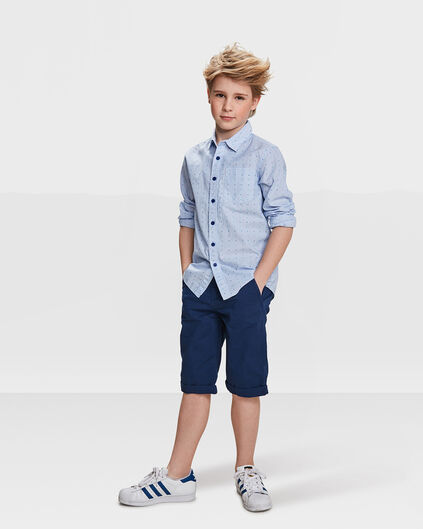 JUNGEN-CHINO-SHORTS IM REGULAR-FIT Dunkelblau
