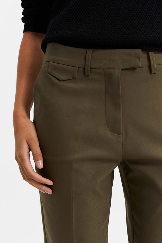 Damen-Slim-Fit-Chinos Olivgrün