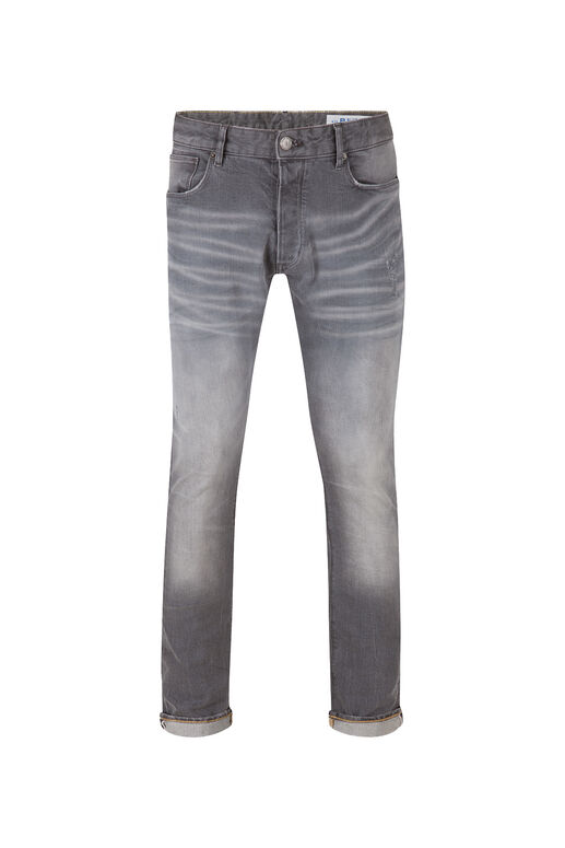 Herren-Slim-Fit-Jeans aus Comfort-Stretch Grau