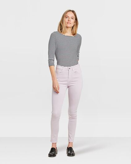 DAMEN-SKINNY-JEANS MIT HOHER TAILLE Lila