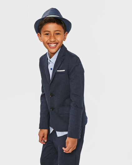 BOY'S REGULAR FIT KOSTÜM BLAZER Dunkelblau