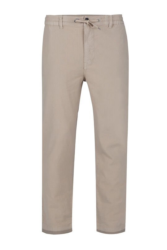 Herren-Loose-Fit-Chinos aus Leinen-Mix Beige