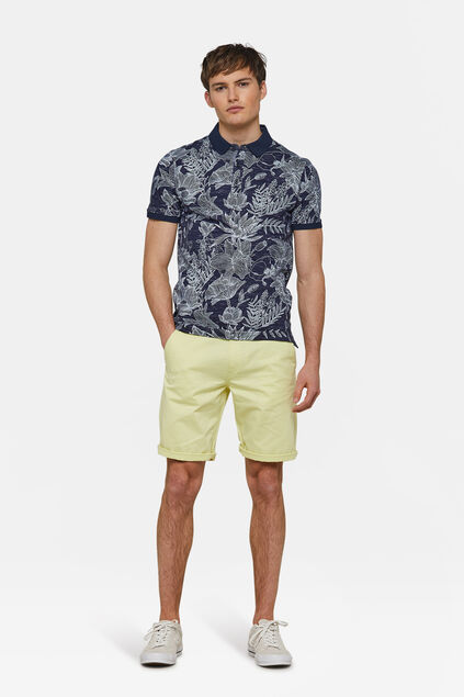 Herren-Regular-Fit-Chinoshorts Hellgelb