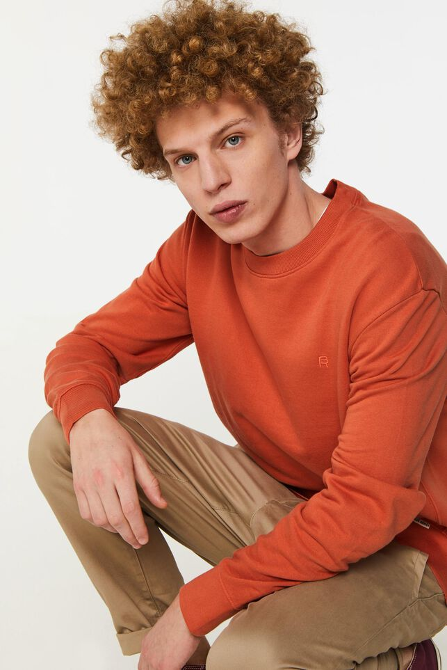 Blue Ridge Herren-Sweatshirt Orange